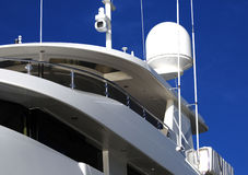 Radar and night vision camera on yacht Stock Photo