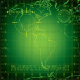Radar North and South America Stock Images