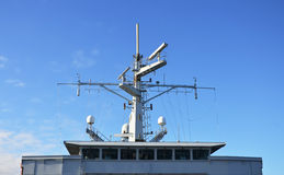 Radar. Radar and other communications on the ship Stock Images