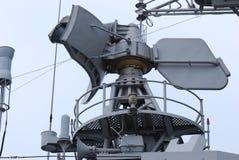 Radar. A photo taken on a radar navigation system on board a frigate patrol ship Stock Image