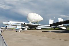 The radar plane at the international exhibition. Royalty Free Stock Image