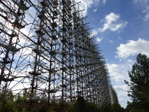 Radar russe de Duga de pivert Images libres de droits