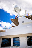 Radar, safety equipment onboard yacht Stock Photography