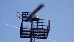 Radar scanning sky stock video footage