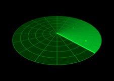 Radar screen. Illustration of a radar screen Royalty Free Stock Photography
