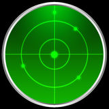 Radar screen. Radar sreen isolated on black Stock Photos