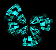 Radar screen. Detail view of abstract green radar screen vector illustration