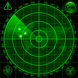 Radar screen Stock Image