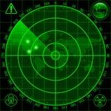 Radar screen. Illustration of radar screen as a security tool royalty free illustration