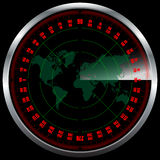 Radar screen Royalty Free Stock Images