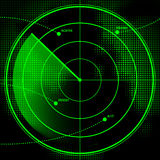 Radar Screen. A green radar screen with incoming aircraft Royalty Free Stock Image