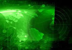 Radar screen vector illustration