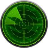 Radar screen combat airplane Royalty Free Stock Images