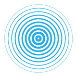 Radar screen concentric circle elements. Vector illustration of blue rings sound wave. Radar screen concentric circles elements. Line in a circle concept. Radio royalty free illustration