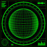 Radar screen. Digital globe Stock Photography