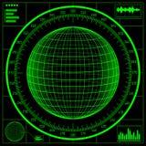 Radar screen. Digital globe Stock Photography