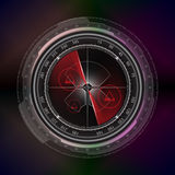 Radar screen display technology style background Royalty Free Stock Images