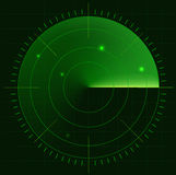 Radar screen Royalty Free Stock Photo
