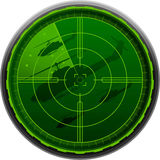 Radar Screen helicopter Royalty Free Stock Photo