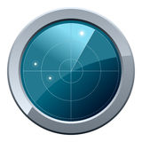 Radar Screen Icon. Glossy round radar screen icon, isolated on white background. Eps file available Stock Photo