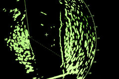 Radar screen, macro photo with selective focus Royalty Free Stock Photography