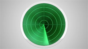 Radar screen (seamless loop) vector illustration