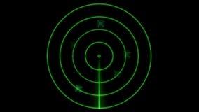 Radar screen stock video footage