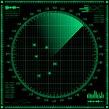 Radar screen Stock Photography