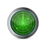 Radar screen vector. Vector illustration Stock Photo
