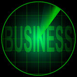 Radar screen with the word Business Royalty Free Stock Image