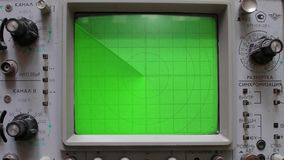 Large radar with a green background. royalty free illustration