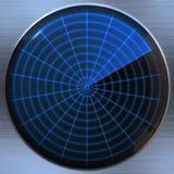 Radar or sonar screen Royalty Free Stock Photo