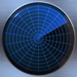 Radar or sonar screen Royalty Free Stock Photo