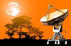 Radar of space communication Royalty Free Stock Photo