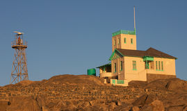 Radar station. Namibian department of fisheries radar station building at Luderitz Royalty Free Stock Photo