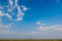 Radar station on background of blue sky Stock Images