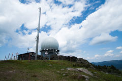 Radar station on Grosser Arber Stock Image