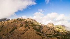 Radar station on Pico do Arieiro, Madeira, Portugal aerial view Royalty Free Stock Photography