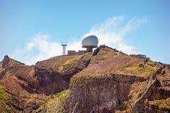 Radar station - Pico do Arieiro, Madeira Royalty Free Stock Images