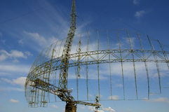 Radar station. In Russia on blue sky background Stock Images