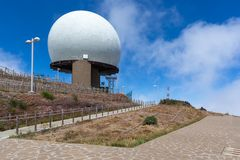 Radar station at top of Pico do Arieiro, Madeira Island Stock Image