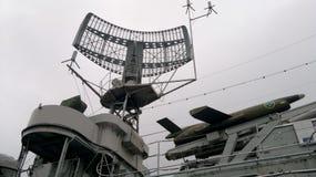 Radar sulla nave da guerra, Gothenburg - Svezia Fotografie Stock Libere da Diritti