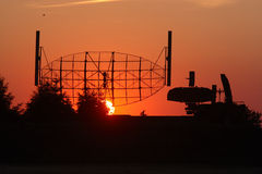 Radar on a sunset Royalty Free Stock Image