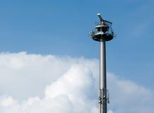Radar Surveillance. Tower On Shore Stock Photos