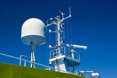 Radar system on a cruise Stock Photo