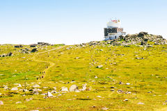 Radar system Сherni Vrah on Vitosha mountain Royalty Free Stock Photo