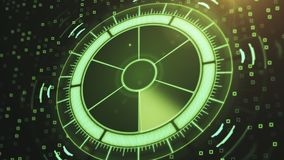 Radar with target on map. Futuristic user interface. HUD Stock Photography