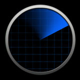 Radar techlonolgy. Global bluetooth radar illustration Stock Image