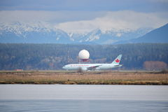 Radar Technology and Air Canada Passenger Jet Stock Images
