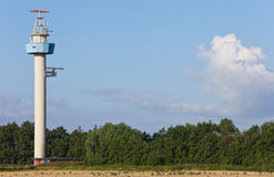Radar Tower. This image shows a radar-installation for ships stock images